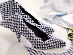Fabric covered shoes