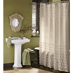 Ruffled Shower Curtain from Through the Country Door®