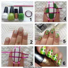 Fierce Makeup and Nails: Lancôme St. Patrick's Day Challenge: Multicolor Squares #nailart #tutorial #nailarttutorial