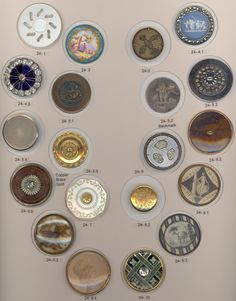 18th Century Assorted Materials Buttons