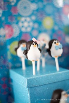 Love these cake pops at a penguin baby shower!    See more party ideas at CatchMyParty.com!  #partyideas #babyshower