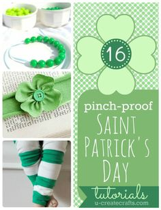 "16 ""Pinch Proof"" St. Patrick's Day Tutorials!"