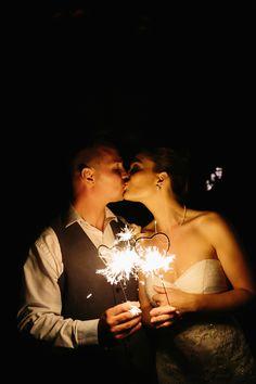 Heart-shaped wedding sparklers   A Brit & A Blonde   Brides.com