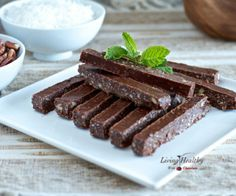 Peppermint Chocolate Sticks (paleo, gluten, dairy, refined sugar free)