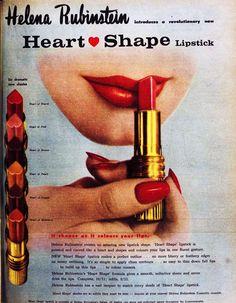 Helena Rubinstein heart shape lipstick, 1960