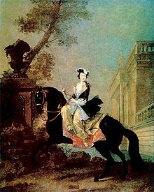 Equestrian portrait of the Grand Duchess Yekaterina Alexeyevna (Catherine the Great).