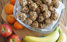 Use peanut butter, oats, coconut and chocolate chips to make these energy bites.
