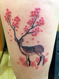 A Japan inspired piece by Obasan at Bow Wow Tattoo in Matusyama, Japan.