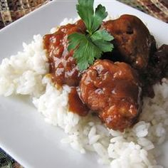 The Best Sweet and Sour Meatballs. This is one of my go to meals. There are never any left overs.
