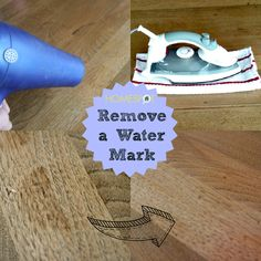 how to remove a water mark from wood