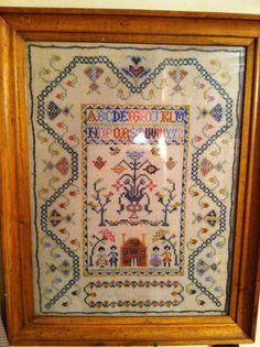Antique sampler cross stitch