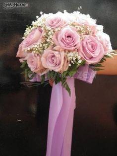 #Bouquet sposa con rose #rosa