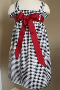 Girls Alabama Game Day Dress Roll Tide