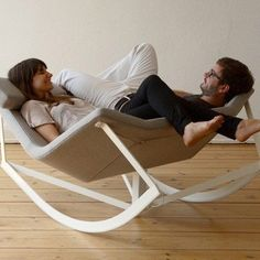 Rocking chair for two!!! Love this!