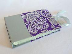 Mini Photo Album Purple and Silver Paisley $29.50