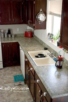 Lady Goats: $80 Kitchen makeover! I could do this!!!!!