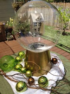 @lilyshop gets things shaking with her gigantic DIY Christmas snow globes! #christmaskeepsake #snowglobe #christmas #DIY #homeandfamily #homeandfamilytv
