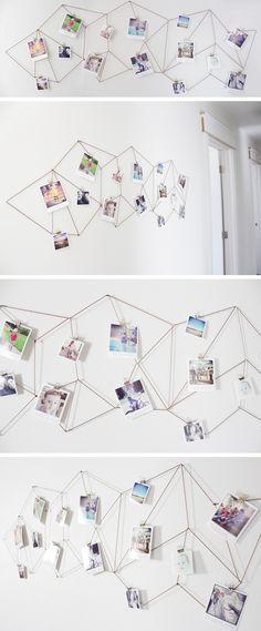 DIY: geometric photo display