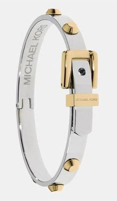 Aston buckle bangle by Michael Kors