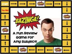 Bazinga!  An Interactive Review Game For Any Subject (SMART Board)