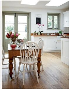 pale green painted trim