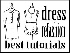 dress refashion, upcycl, diy fashion, recycl cloth, sewingdiy inspir, refashion tutori