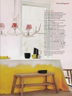 DIP DYED TABLE CLOTH