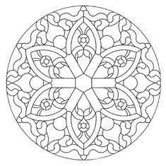 Mandala 591, Mandala Stained Glass Pattern Book, Dover Publications