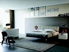 Check out the methacrylate feet on this Tomasella Group bed.  Looks like it's floating! TheHome.com #hpmkt