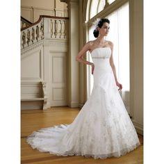 Find affordable long church bridal wedding dress