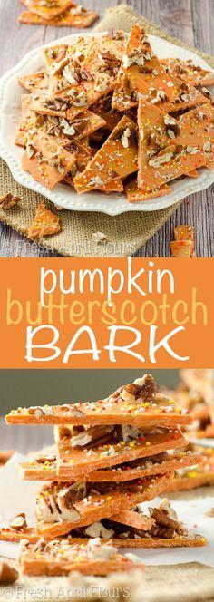 Pumpkin Butterscotch Bark