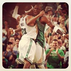 semi-finals, celtics up 1-0  ON THE ROAD TO 18.