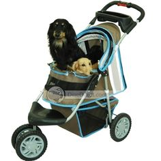 Prams -- Lightweight Pet Stroller -- This dog stroller is designed with good details and is perfect for your pet. The pet stroller works great for traveling and around town. The pet stroller is designed to keep your pet comfy and cozy on any length trip. The pet carrier is uniquely crafted to meet the high demands when you travel. It is a comfortable stroller both for you and your pet.