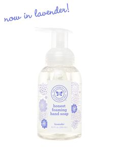Honest Foaming Hand Soap in Lavender #nontoxic #ecofriendly