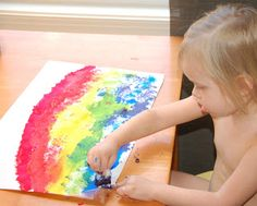 St. Patrick's Day Art: Our First Rainbows