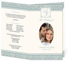 Wedding Programs Templates: Letter Single Fold: Adoration DIY Printable Wedding Program Template