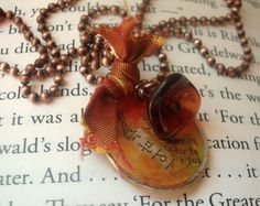 Warmth Mixed Media Necklace by torchandhammer on Etsy ~ this is so lovely! Reminds me of autumn <3