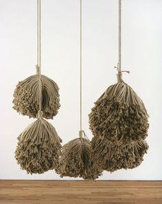rope installation, tassel, sculptur, yarn, textile art, alexandra bircken