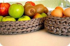 canasto de frutas de trapillo