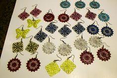Frugal Christmas Gift: DIY Handpainted Artisan Earrings - MoneySavingQueen - December 2012