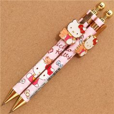 pale pink Hello Kitty cat dots mechanical pencil Sanrio