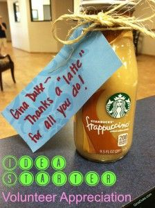 """Thanks a """"latte"""" appreciation gift for your volunteers. Gifts 