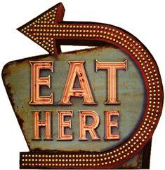 food network, neon sign, food typography vintage, vintage food signs, letter, retrosign, retro sign, kitchen, light