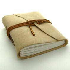 handmade leather journal.