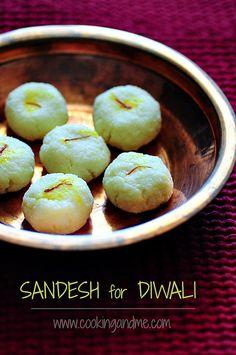 Sandesh Recipe - How to Make Sandesh - Easy Diwali Sweets