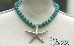 Beautiful Turquoise and pure silver starfish....just screams summer...... http://www.idazz.com/product.asp?pid=562