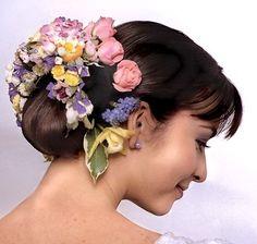 flore en, con flore, novia increíbl, flower hair