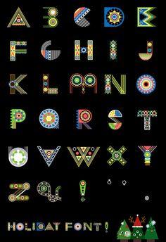 Festive display typeface :D