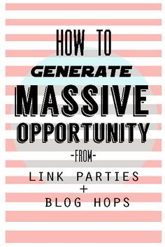 create blog opportunities from link parties