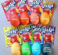 Egg dye from Kool Aid